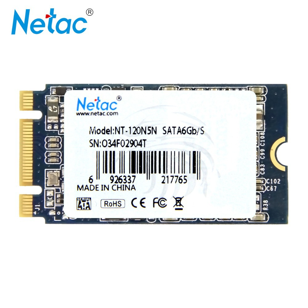 Netac N5N 120GB SSD Internal Solid State Drive M.2 (NGFF) Interface MLC Flash Storage Devices Disk to Computer Laptop(China (Mainland))