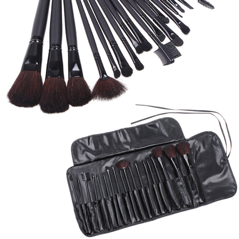 Professional Makeup Brush Set 18Pcs New Facial Beauty Cosmetic Brush with Black Pouch Bag<br><br>Aliexpress