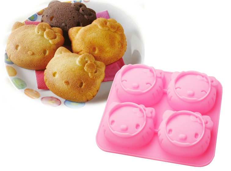 D040 DIY Hello Kitty Silicone Cake Mould,Handmade tool soap mold Mold,Kids Christmas bakeware(China (Mainland))