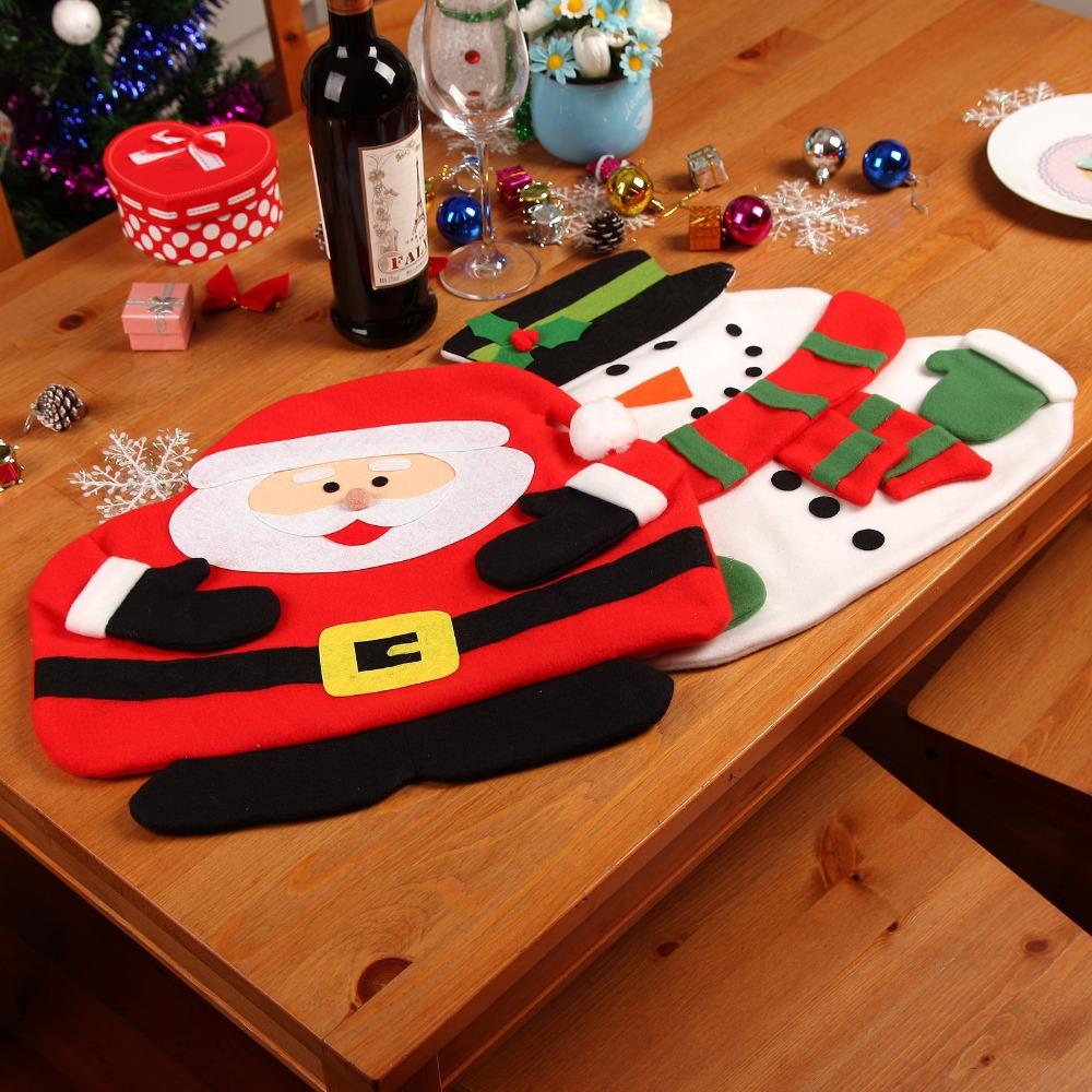 nuevos manteles de navidad de santa claus mueco de nieve de mesa mantel estera con