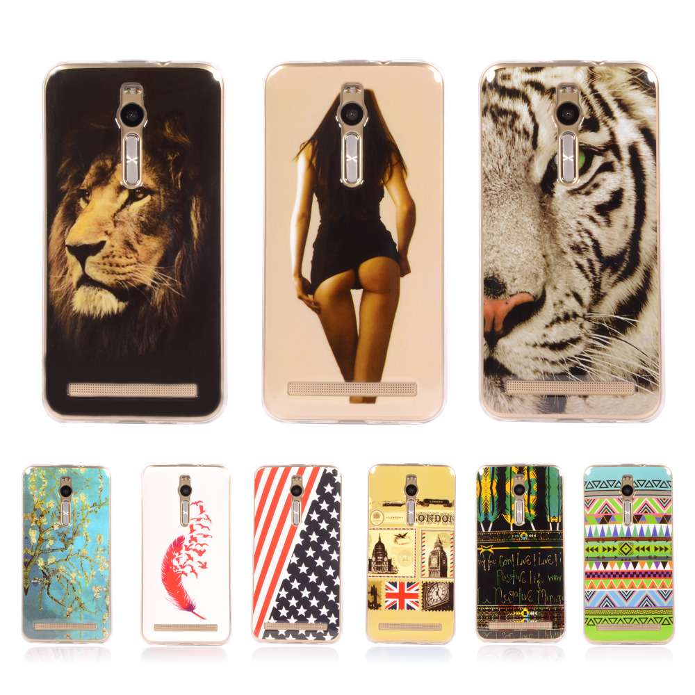 "Pattern Rubber Tribe Soft TPU Cover For ASUS ZenFone 2 5.5"" ZE550ML ZE551ML With Gel Silicone Case Mobile Phone Protective Case(China (Mainland))"