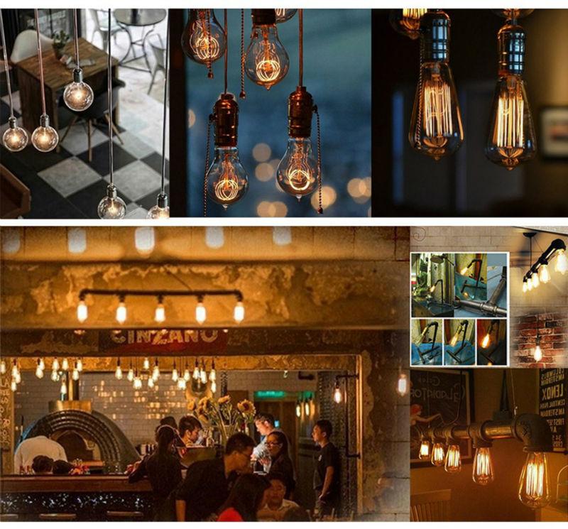 Led Edison Bulb G125 Big Light Bulb 4W 6W E27 Clear Glass Retro Filament Bulb AC220V Indoor Decorativas Lighting
