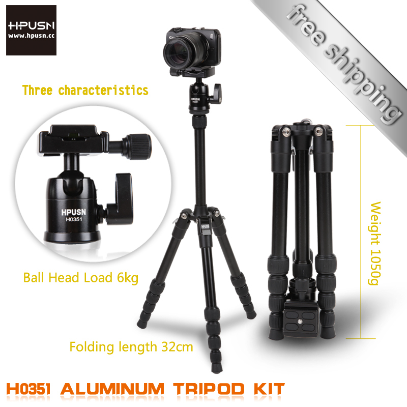 Hpusn Folding 32cm Professional Camera Tripods for SLR Canon nikon Monopod portable travel photography tripod(China (Mainland))