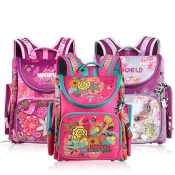 Российских детей школьные сумки водонепроницаемый ортопедические дети рюкзак 3D школьный ...