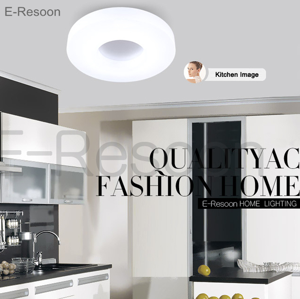 Fashion Brief Led Ceiling Light Dia 350mm Aluminum And Acrylic High Quality AC85V~265V Warm/Cool White Bedroom kitchen Corridor(China (Mainland))