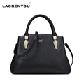 LAORENTOU Brand Snake Head Design Cowhide Leather Women Handbag Casual Luxury Handbags Women Bags Designer Lady
