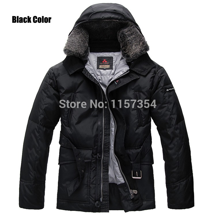 top brand 2 Colors-Brand Peuterey Mens Down Black/Navy Jackets With Fur Collar,Size S-XXXL,piumino peuterey milano(China (Mainland))