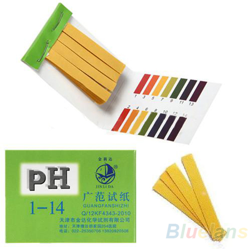 80 Strips Full Range pH Alkaline Acid 1 14 Test Paper Water Litmus Testing Kit 031N