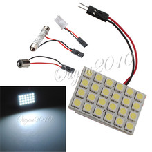 Buy Big Promotion T10 BA9S Festoon 3 Adapters 24 SMD 5050 LED Light White Car Auto Reading Panel Interior Dome Lamp DC12V for $1.17 in AliExpress store
