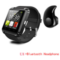Luxury Wirst Watch Bluetooth Watch U8 Smartwatch Digital Sport Watches for Apple IOS Android phone Wearable
