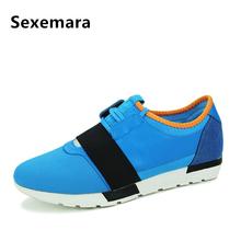 Sexemara Luxury Brand Designer Men Shose Fashion Mens Trainers Lace-Up Men Casual Shoes Zapatillas Shoes Online Shop Shoes Homme(China (Mainland))