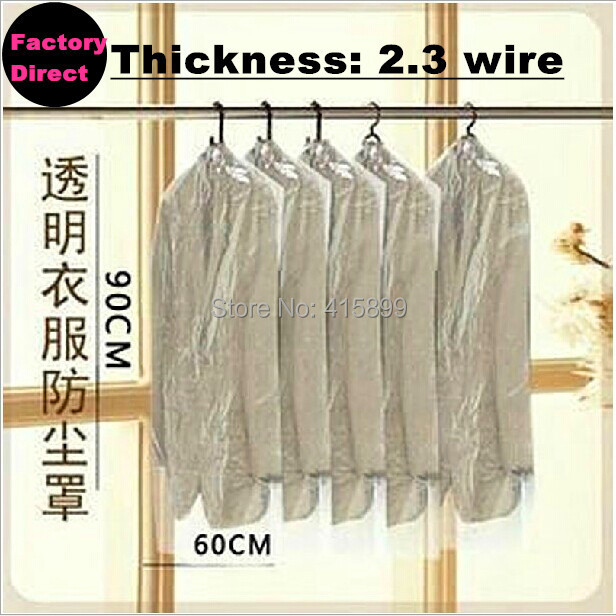 Free sent DHL or EMS or FedEx 1000P/LOT dust cover suit bag garment bags clear color for prevent dust Clothes Dust cover(China (Mainland))