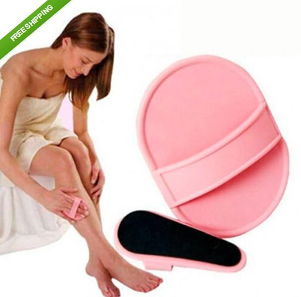 New 2015 Legs Skin Pads Arm Face Hair Removal Remover Exfoliator Set(China (Mainland))