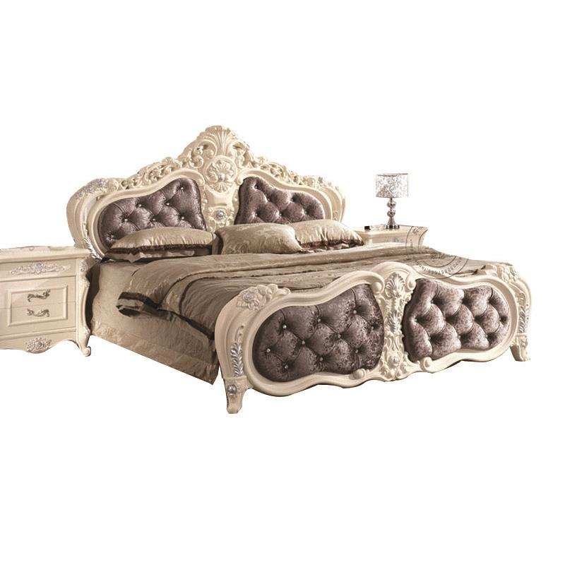 Continental Carved Wood Bed new French high box Princess Soft Bed Leather Bed Prince(China (Mainland))