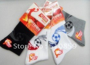 Football in male sox deodorant antibacterial health tube socks