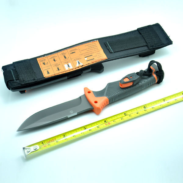 Hot !! Military knife hunting knife Fixed blade knife outdoor Knives Survival Knife 59HRC full With Sheath & Fire Starter
