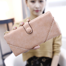 2016 New Fashional Style Solid Women Wallets Provide Comfortable Feel Female Purse Long Wallets Hot Wallet For Girls(China (Mainland))