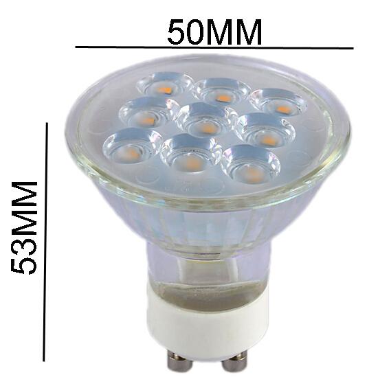 2015 NEW GU10 Glass Lamp Body Led Spotlight 2835 SMD 220V 3W 120 Degree Lens Spot Light Bulb Downlight lighting 12PCS/Lot(China (Mainland))