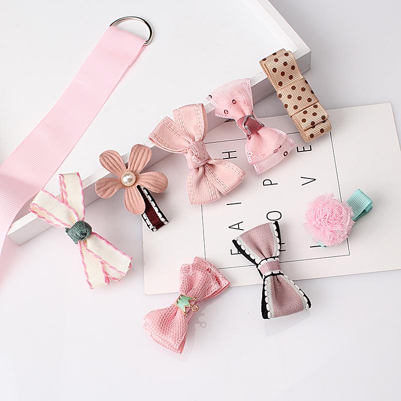 M MISM 1Set=8Pcs New Brand Flower Bow Hairpins Bijoux De Tete Crown Pearl Hair Clip Women Girl Barrettes Accessories Jewelry(China (Mainland))