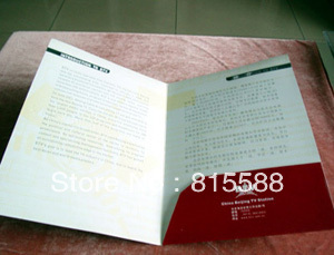 Hot selling customized paper presentation folder with paper sheet pockets in printing house(China (Mainland))