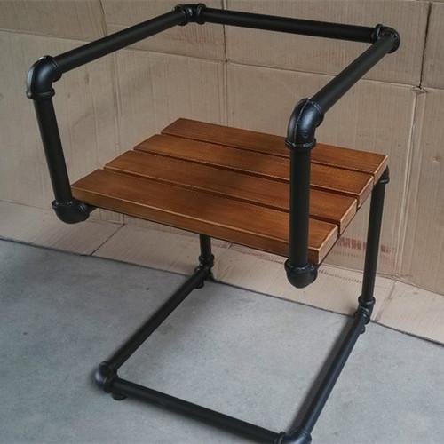 Retro americana de hierro forjado de madera silla del ocio for Ocio muebles