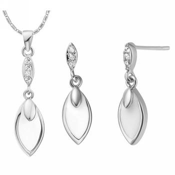 925 Silver Jewelry Ring Necklace Sets Elegant Wholesale Lots Personalized Valentine's Day Ornaments Fashion Set for Women