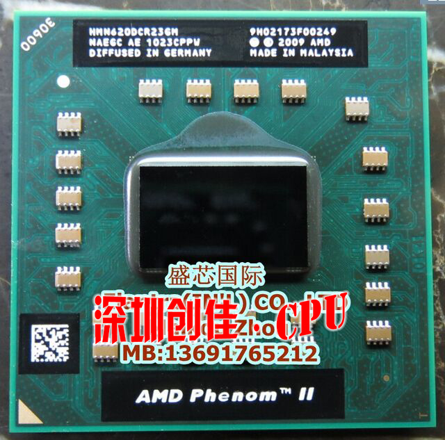 FREE SHIPPING NEW CPU CHIPS AMD PHENOM II N620 HMN620DCR23GM A central processor cpu laptop Socket S1 2.8G 2M Dual core N 620(China (Mainland))