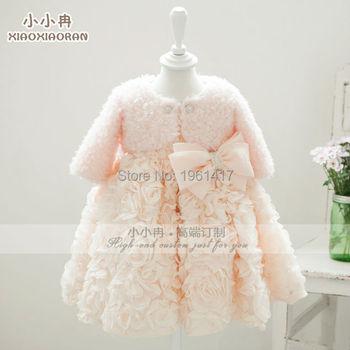 2016 горячая распродажа удобная куртка младенца для зимних девочек пальто - девушка болеро бесплатная доставка с ручной цветок блестки