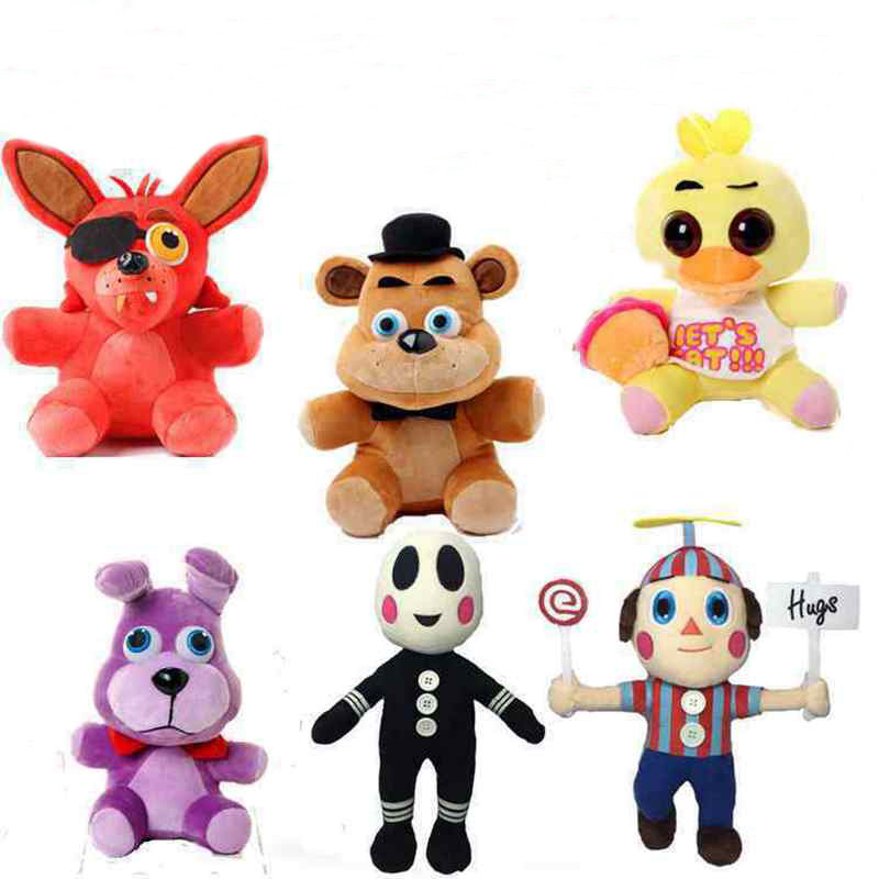 Plush Fnaf Five Nights At Freddy Bear Fox Rabbit Bunny Chica Duck Plush Toys Doll for baby kids gifts(China (Mainland))