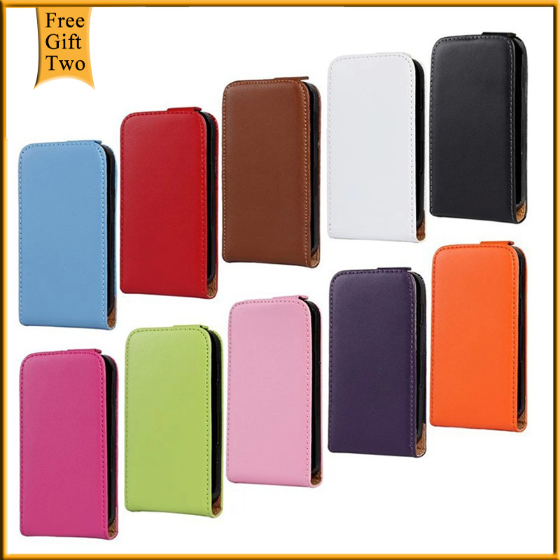 For Samsung S5830 Real Genuine Leather Flip Case For Samsung Galaxy Ace S5830i GT S5830 GT