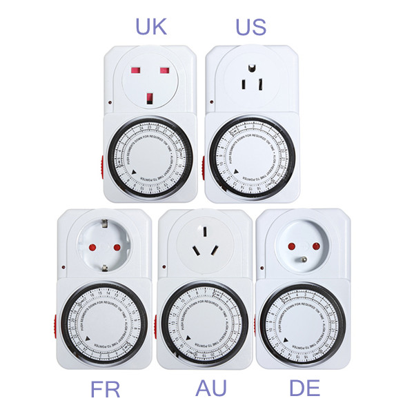 Greenhouse Switch Timer Mechanical Electronic Time AU/EU/US/UK Plug Mini Programmable Timer Socket Energy Saver Favorable Price(China (Mainland))