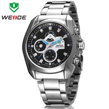 Nueva moda marca WEIDE Mens Desinger estilo de negocios vestido reloj análogo de cuarzo de japón acero lleno reloj de moda 30 M impermeable