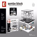 1116pcs SEMBO SD6900 comes with LED Apple flagship store Minifigure building blocks enlighten Compatible With LEPING