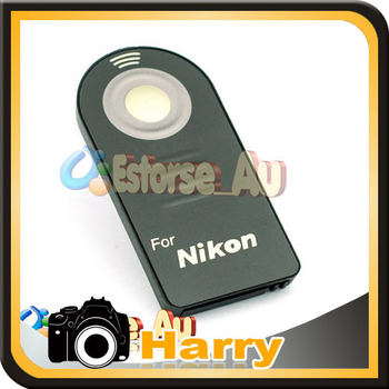 IR Wireless Remote Control + CR2025 Battery For N D60 D80 D90 D3000 D5000 D5100 D7000 Free shipping +Tracking Number