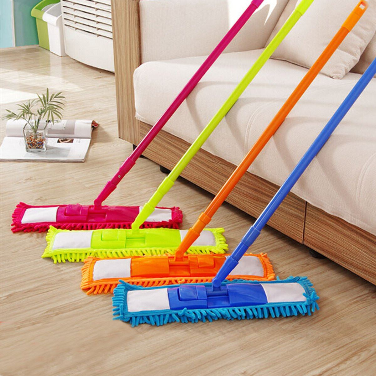 Colorful Floor Mops Cleaner Handheld Sweeper Broom Extendable Microfibre Sweeper Home Cleaning Tool 360 Degree Rotatable(China (Mainland))