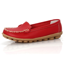 Shoes Woman 2016 Genuine Leather Women Shoes Flats 8 Colors Loafers Slip On Women's Flat Shoes Moccasins Plus Size(China (Mainland))