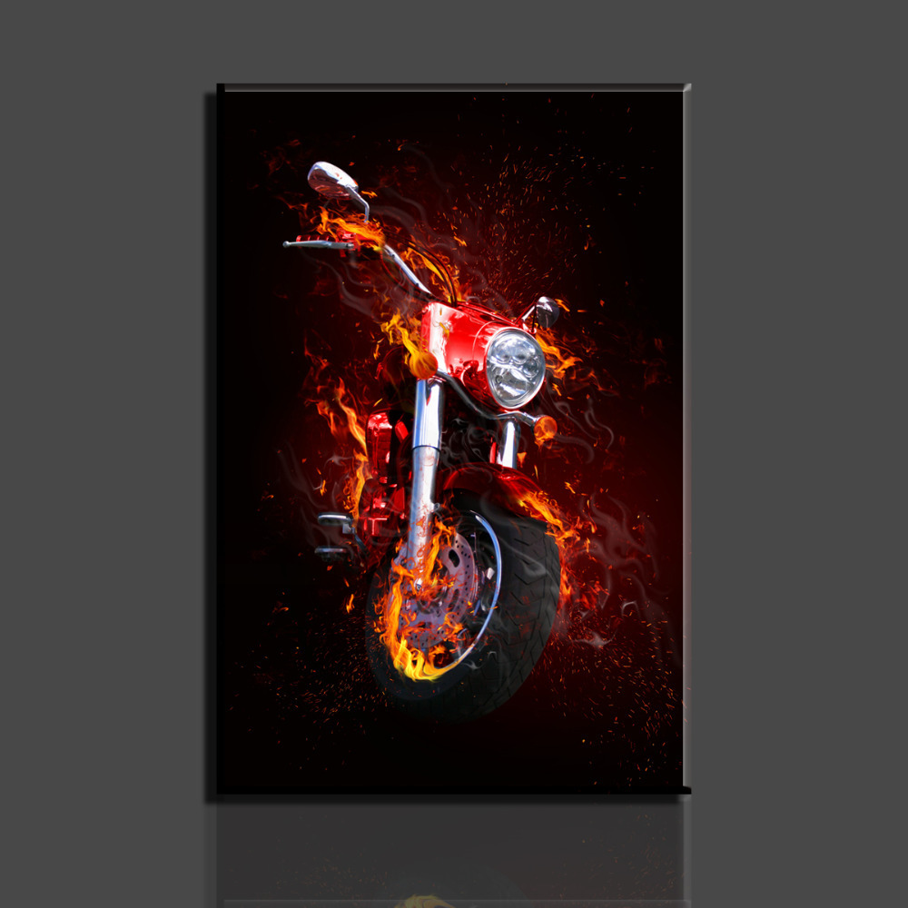 Buy 1 piece picture hot sell motorcycle for Motorcycle decorations home