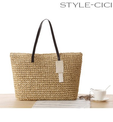 single women in rattan Bali rattan summer bohemian straw rattan handbag butterfly buckle beach women.