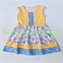Discount polka dot balloon dress hot top quality cheap remake girl dress(China (Mainland))