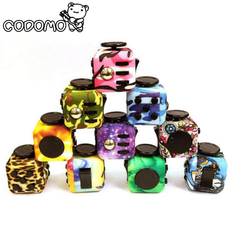 Original Fidget Cube Camouflage toys relieve stress for adult 2017 New Fidget Cube mini stress cube toys set Fidget toy oyuncak(China (Mainland))