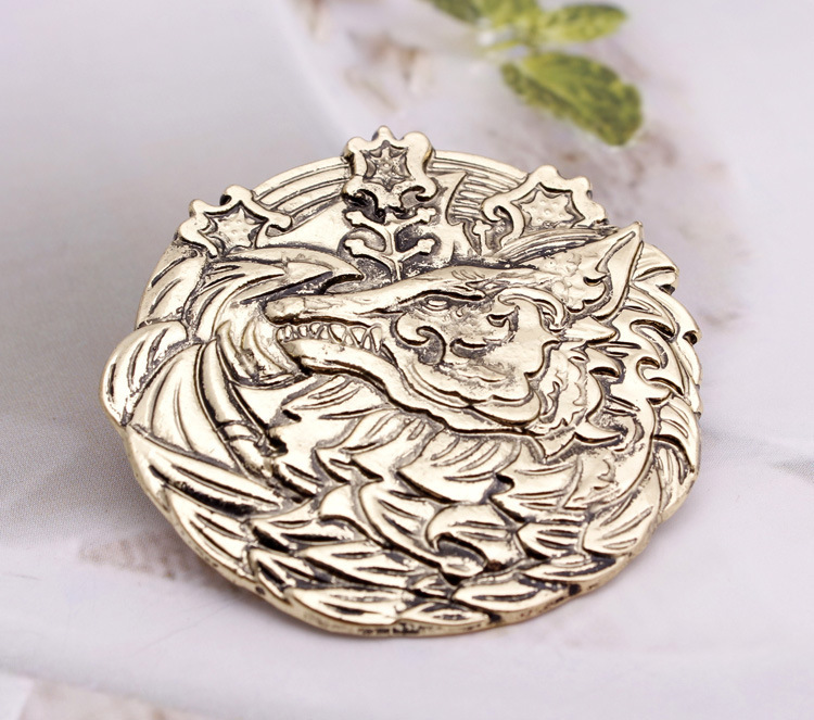 Wholesale Lce Wolf Brooches Fashion Jewelry Vintage New Style Women Cheap Brooch Pins For Women Men Costume Jewellery 3pcs/bag(China (Mainland))