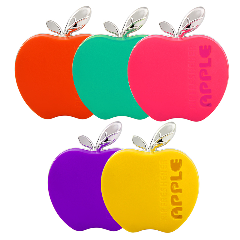 Original Fragrance Hot Selling Air Freshener Apple Shape Orange Lemon Apple Strawberry Lavender Car Perfume(China (Mainland))