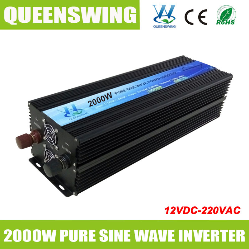 QUEENSWING High frequency 2000W Pure Sine Wave Power Inverter with digital display QW P2000B