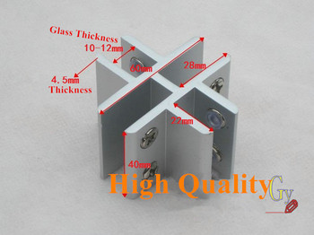 10PCS Four Connections Fitted Shelf Clamp Shower Door Hinge Glass Clamp Bathroom Stainless Steel Glass Shelf Brackets Wholesale