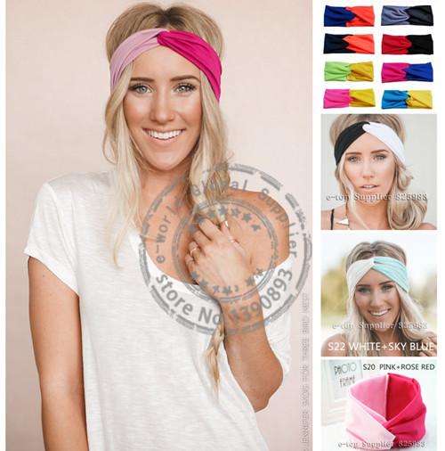 2015 New 19 Colors Twist Sport Yoga Headband Leopard Bandana hijab Turban Headscarf Wrap Women Turbante Hair Accessories A0399(China (Mainland))