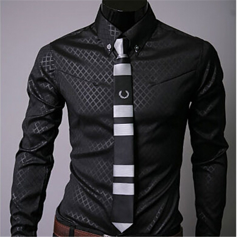 Summer hot sale breathable men dress shirt navy black for Mens black dress shirts sale