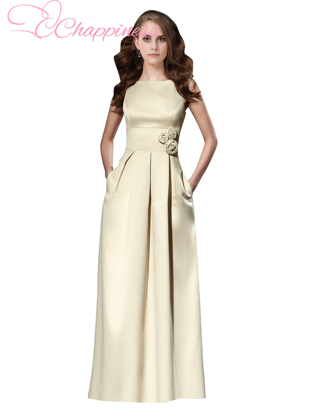 Wedding guest bridesmaid dress custom made a line formal for Formal long dresses for weddings