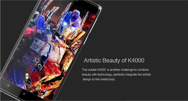 "OUKITEL K4000 5""Inch HD Android 5.1 4G LTE Quadcore 1280x 720 Smartphone MTK6735P 2GB RAM 16GB ROM 13.0MP 4000MAH Mobile Phone"