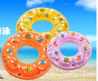 60cm Children's swimming circle PVC thick double deck cartoon inflatable swimming pool wholesale manufacturers(China (Mainland))
