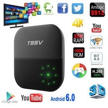 Buy T95V PRO 3g 32g/3g 16g/2g 16g Amlogic S912 Octa core Android 6.0 TV Box Kodi LAN Gigabit WiFi 2.4GHz/5.8GHz Bluetooth 4.0 for $57.70 in AliExpress store